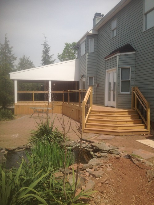 Pressure Treated Wood Deck Build And Partial Enclosed Roof
