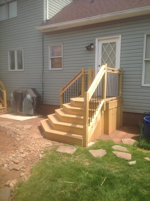 Pressure Treated Wood Deck Build And Partial Enclosed Roof In Belle Mead Nj By Campbell S
