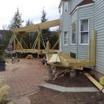 Deck Building in Belle Mead, NJ - Before