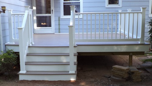 PVC Deck With Vinyl Railing in South Plainfield, NJ